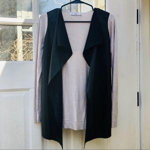 🎁 ZARA open front draped cardigan